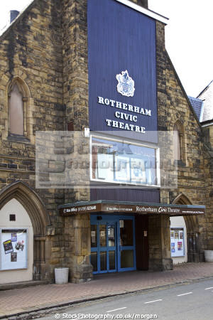 civic theatre rotherham south yorkshire uk theatres theater theatrical venues british architecture architectural buildings church small amateur dramatics venue england english angleterre inghilterra inglaterra united kingdom
