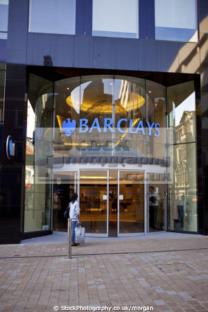 barclays bank branch leeds city centre west yorkshire banking finance brands branding uk business commerce high street chain company national england english angleterre inghilterra inglaterra united kingdom british
