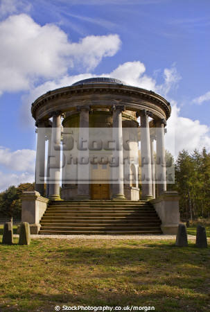 rotunda hunting lodge wentworth castle estate stainborough south yorkshire british castles architecture architectural buildings heritage parkland restored preserved england english angleterre inghilterra inglaterra united kingdom