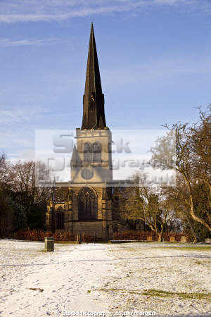 holy trinity parish church wentworth south yorkshire uk churches worship religion christian british architecture architectural buildings village gothic victorian winter snow 1877 england english angleterre inghilterra inglaterra united kingdom