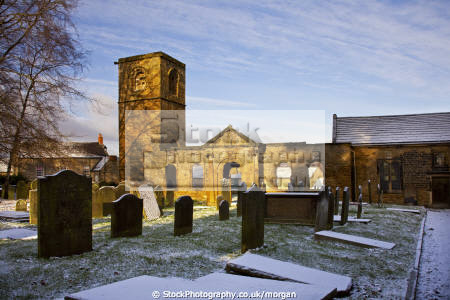 wentworth old church south yokshire uk churches worship religion christian british architecture architectural buildings snow winter ruins graves 13th century william thomas yorkshire england english angleterre inghilterra inglaterra united kingdom