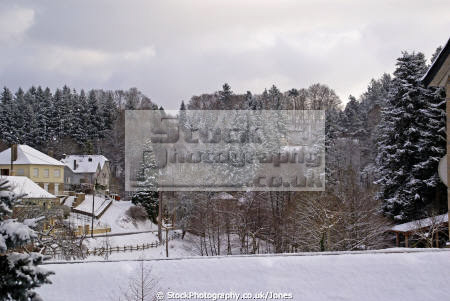 village correze looking valley french landscapes european limousin snow snowy winter wintery christmas card picture post mediaeval medaeval corrèze france la francia frankreich
