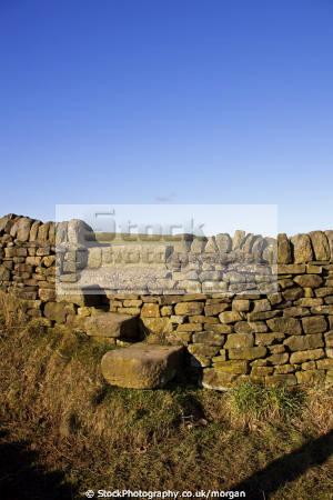 country stile penistone south yorkshire countryside rural environmental wall walking field dry stone england english angleterre inghilterra inglaterra united kingdom british