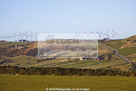 wind turbines crow edge penistone south yorkshire environmental landscape energy generation green farm england english angleterre inghilterra inglaterra united kingdom british