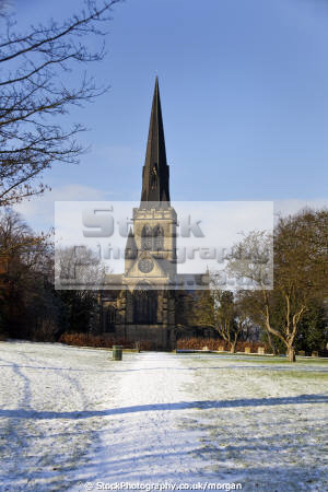 holy trinity parish church wentworth south yorkshire uk churches worship religion christian british architecture architectural buildings village winter snow gothic 1877 victorian england english angleterre inghilterra inglaterra united kingdom