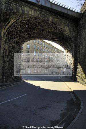 nestlé factory railway bridge halifax industry industrial uk business commerce arch yorkshire britain england english angleterre inghilterra inglaterra united kingdom british