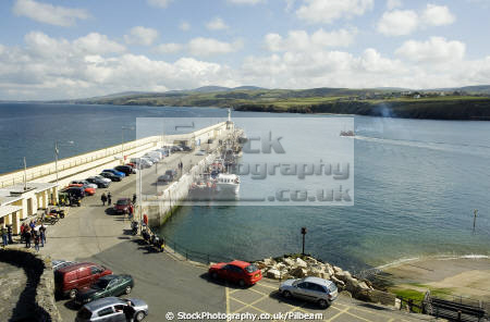 peel harbour outer breakwater west coast isle man uk coastline coastal environmental fishing boats kippers manx harbor england english angleterre inghilterra inglaterra united kingdom british