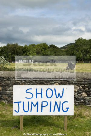 jumping arena agricultural isle man rural britain countryside rustic pastoral environmental sign horse riding event wall manx england english angleterre inghilterra inglaterra united kingdom british