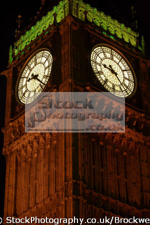 night time shot showing close clock face big ben london houses parliament square famous sights capital england english building landmark architecture cities lights westminster cockney angleterre inghilterra inglaterra united kingdom british