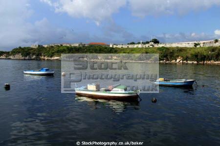fishing boats havana harbour cuba marine caribbean cuban