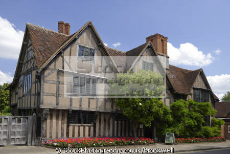 hall croft house stratford avon william shakespeare born showing architecture tudor times 16th 17th century. tourist attraction warwickshire historical uk buildings history british architectural tourism sight seeing famous cottage stratford-on-avon stratford on avon stratfordonavon england english angleterre inghilterra inglaterra united kingdom