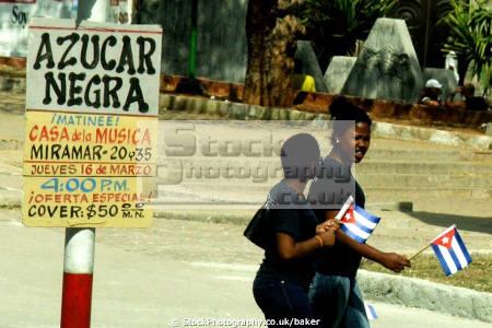cuban ladies flags havana abstracts communism communist fidel castro che guevara cuba caribbean
