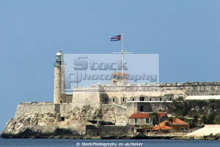 lighthouse havana harbour el morro fortress marine castillo san salvador la punta bay los tres reyes magos del pirates cuba caribbean cuban