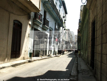 cuban colonial street havana history science tatty worn rotten wood mediterranean paint spanish cuba caribbean