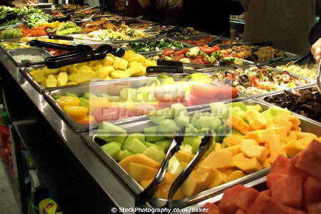 food new york deli nyc nourishment nutrients abstracts hot buffet fruit healthy eating salad spring rolls chinese away big apple united states american