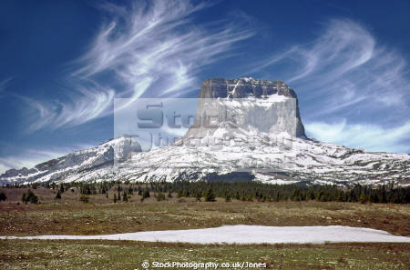 chief mountain montana usa. rock formations geology geological science butte blackfoot indian reservation winter snow kings peak glacier np national park united states american