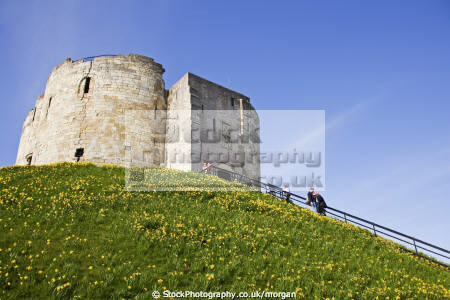cliffords tower york historical uk buildings history british architecture architectural stone english heritage fortress yorkshire england angleterre inghilterra inglaterra united kingdom