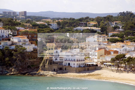 pretty resort llafranc spain. taken lighthouse san sebastián catalunya catalonia spanish espana european església espagne españa beach sandy bay holiday platja costa brava spain spanien la spagna