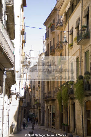 girona spain rambla la llibertat catalunya catalonia spanish espana european església espagne españa shops businesses restaurants bars costa brava spanien spagna