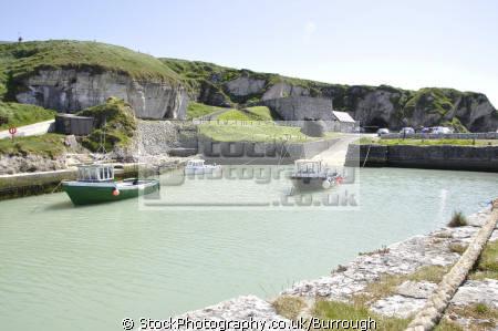 ballintoy harbour fishing boats marine sea cliffs limekiln car park county antrim aontroim northern ireland ulster irish irland irlanda united kingdom british