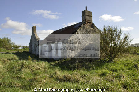 derelict farm house outbuildings uk cottages british housing houses homes dwellings abode architecture architectural buildings farmhouse abandonded tin roofed fields agriculture clouds county antrim aontroim northern ireland ulster irish irland irlanda united kingdom