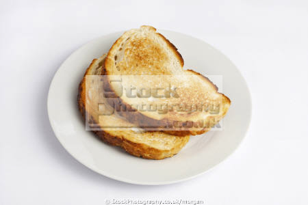 slices toast food nourishment nutrients abstracts plate white bread toasted breakfast background united kingdom british
