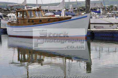 sailing boat ballycastle harbour marine sail reflections moorings county antrim aontroim northern ireland ulster irish irland irlanda united kingdom british