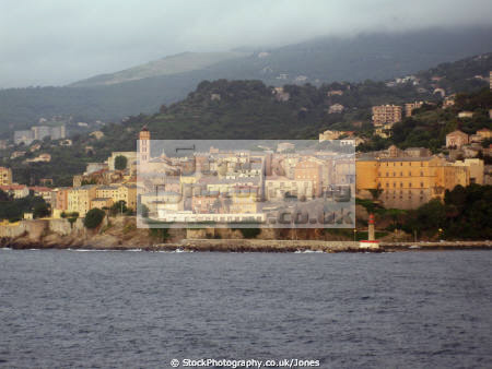 bastia corsica early morning light taken toulon ferry. french landscapes european haute-corse haute corse hautecorse granite island port harbour corse france la francia frankreich