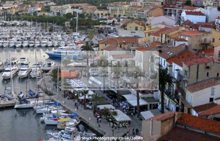 town calvi corsica waterfront marina french landscapes european haute-corse haute corse hautecorse port haven quayside yacht boat bateau restaurant corse france la francia frankreich