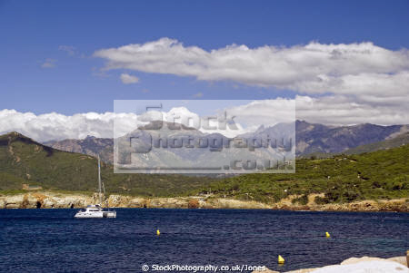 corsica looking bay galéria french landscapes european galeria haute-corse haute corse hautecorse port marina haven quayside yacht boat bateau granite island corse france la francia frankreich