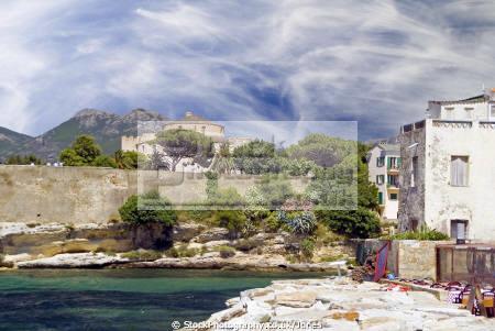 st florent corsica citadel french landscapes european haute-corse haute corse hautecorse port marina haven quayside yacht boat fort citadelle saint corse france la francia frankreich