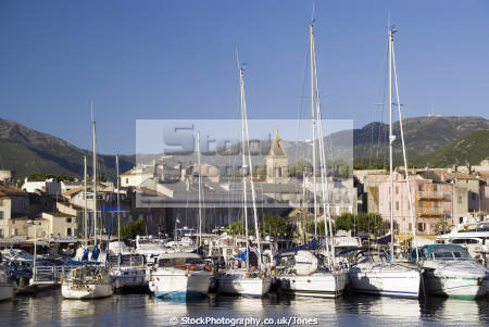 golfe saint-florent saint florent saintflorent corsica town harbour st florent french landscapes european haute-corse haute corse hautecorse port marina haven quayside boats bateau yacht corse france la francia frankreich