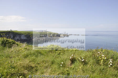 cliff tops north antrim coast looking ballintoy uk coastline coastal environmental cliffs sea sky path ulster way county aontroim northern ireland irish irland irlanda united kingdom british