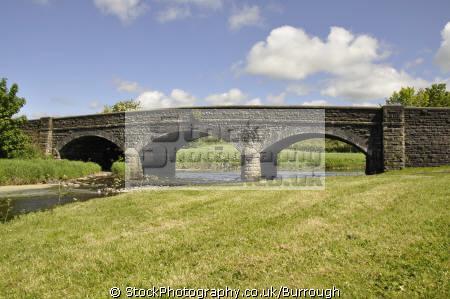 stone bridge river bush stranocum british architecture architectural buildings construction arches county antrim aontroim northern ireland ulster irish irland irlanda united kingdom