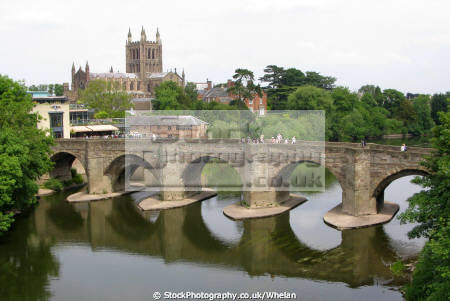 wye bridge hereford cathedral background. uk towns environmental herefordshire england english angleterre inghilterra inglaterra united kingdom british