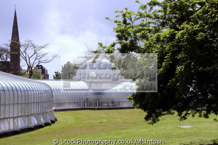 kibble palace west end. erected current location 1873. photo historical uk buildings history british architecture architectural wrought iron construction glasgow central scotland scottish scotch scots escocia schottland united kingdom