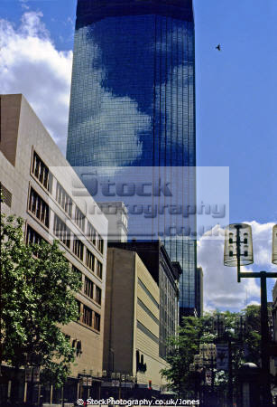 reflections ids tower minneapolis usa. photo taken 1979. american yankee history historic high-rise high rise highrise skyscraper commercial business district office block downtown minnesota nicollet united states