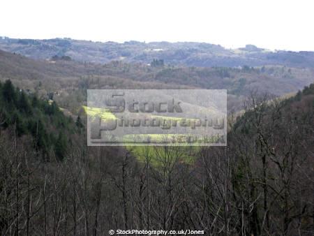 typical landscape monedieres region southern limousin french landscapes european corrèze correze forest france monédières winter valley la francia frankreich