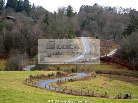study roads monedieres region southern limousin french landscapes european corrèze correze forest france monédières winter valley la francia frankreich