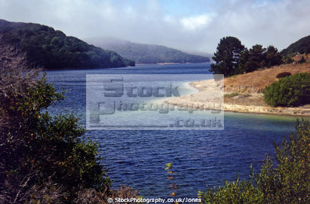 san andreas lake near francisco california. geology geological science fault pacific plate tectonics earthquake richter sf 1906 california californian united states american
