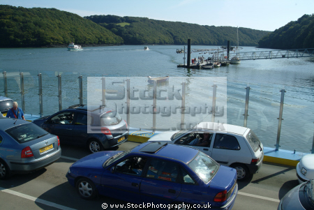 boats king harry ferry marine floating bridge feock philleigh roseland peninsula river fal falmouth cornwall cornish england english angleterre inghilterra inglaterra united kingdom british