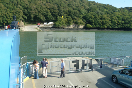 roseland peninsula seen king harry ferry boats marine floating bridge feock philleigh river fal falmouth cornwall cornish england english angleterre inghilterra inglaterra united kingdom british