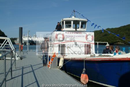 ferry boat pride falmouth river fal run truro boats marine cornwall cornish england english angleterre inghilterra inglaterra united kingdom british