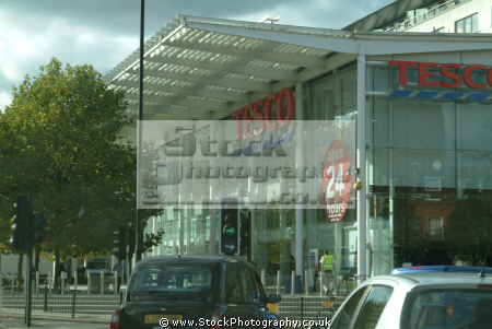 tesco superstore corner west cromwell rd warwick road shops shopping buildings architecture london capital england english united kingdom british