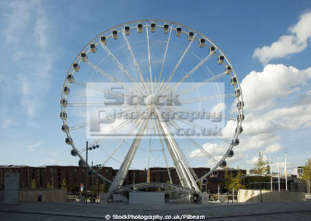 big wheel albert dock liverpool north west northwest england english fairground ride merseyside scouse angleterre inghilterra inglaterra united kingdom british