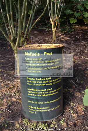 eden project biofuels barrels explanation carbon neutral tourist attractions england english botanical garden attraction architectural geodesic dome cornish cornwall angleterre inghilterra inglaterra united kingdom british