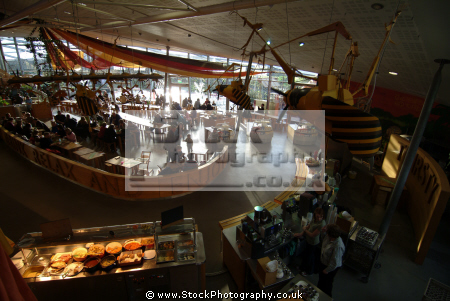 eden project main cafe biomes tourist attractions england english botanical garden attraction architectural geodesic dome cornish cornwall angleterre inghilterra inglaterra united kingdom british