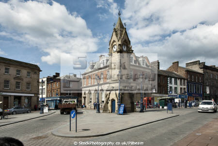 penrith centre clock square british architecture architectural buildings lake district lakes tourist cumbria cumbrian england english angleterre inghilterra inglaterra united kingdom
