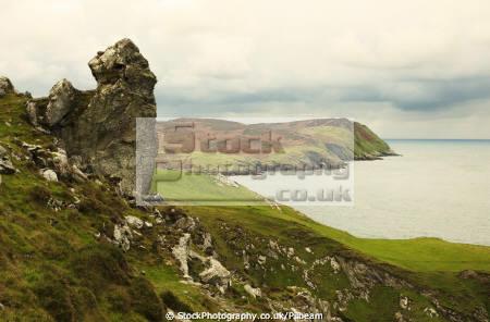 large rock footpath isle man uk coastline coastal environmental rocks walking manx iom england english angleterre inghilterra inglaterra united kingdom british