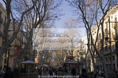 barcelona la rambla santa monica catalunya catalonia spanish espana european espagne espa street avenue spain spanien spagna